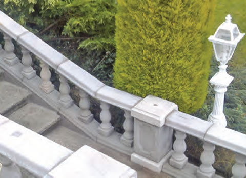 architectural balustrades and pillars
